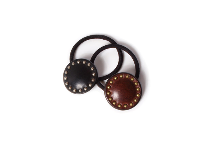 CIRCLE STUDS HAIR RUBBER