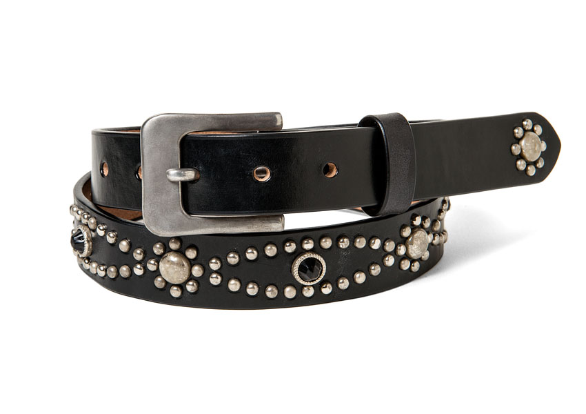 FLOWER CHAIN STUDS BELT